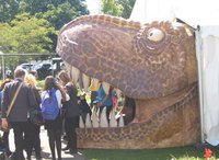 Dinosaur exhibition door