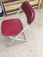 Used Red Folding Samsonite Chairs