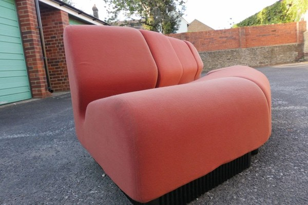 Curved Vintage Sofa