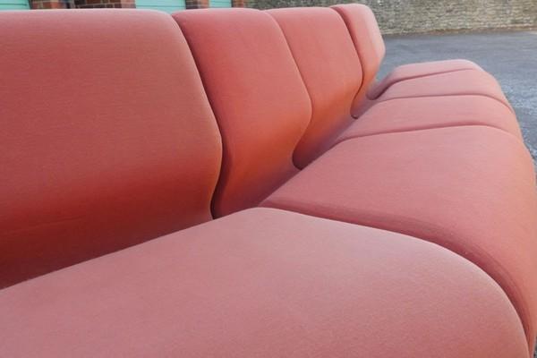 Red Vintage Modular Sofa