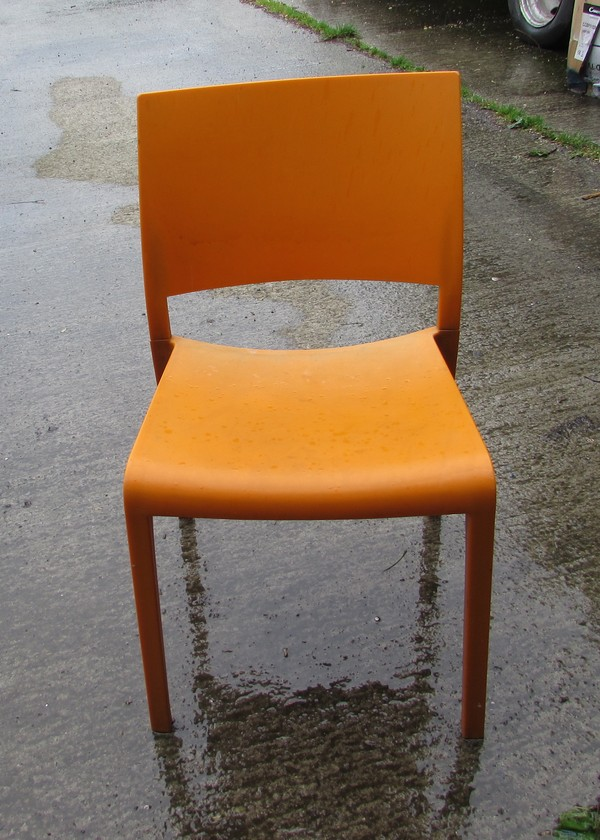 50x Stacking Orange Chairs