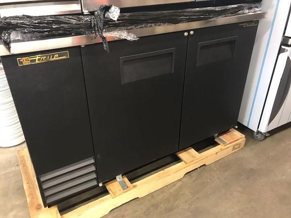 Solid Black Back Bar Double Door Cooler