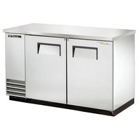 True Solid Swing Door Stainless Steel Back Bar Cooler - London