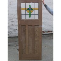 1930 Edwardian Stained Glass Original Exterior Door