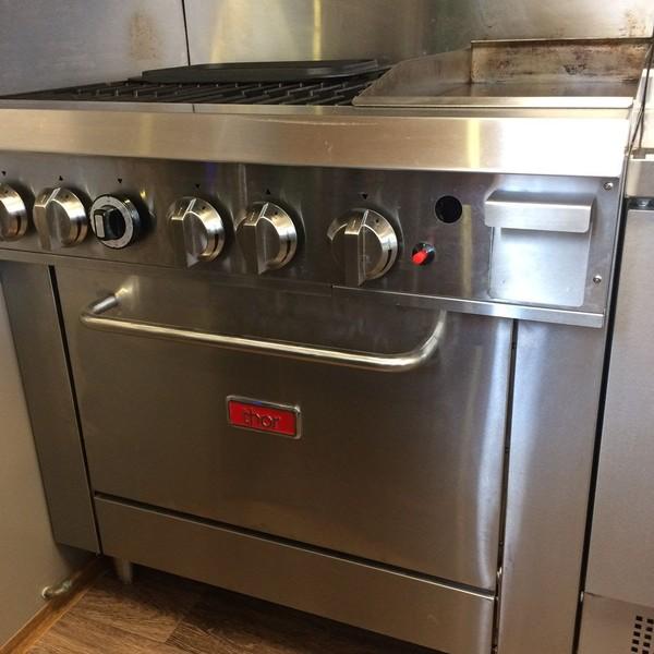 Thor GL174 LPG Gas Four Burner Oven Range with Griddle Plate
