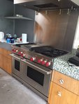 "Wolf Subzero 48"" Range Cooker - Stainless Steel, Red Knobs"
