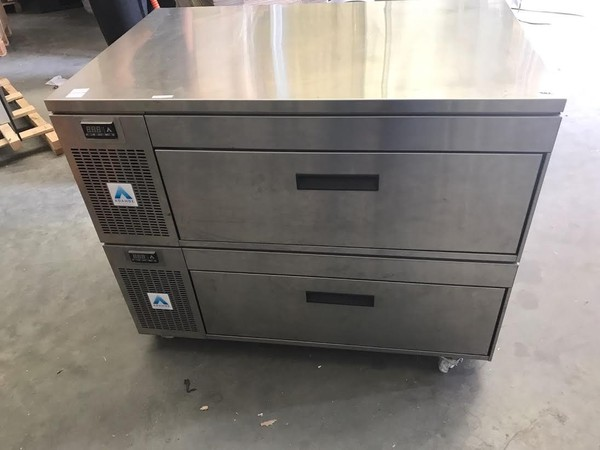Under Counter Side Engine 2 Drawer Stainless Steel
