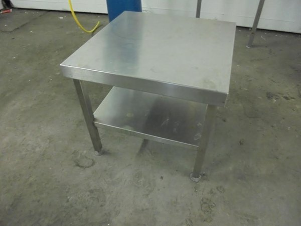 Low stainless steel table