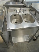 Double hand wash sink