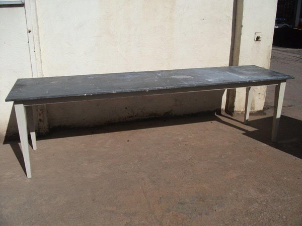 Large Table Galvanized Top - Shropshire