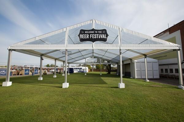 Beer Festival Tent 16m x 20m + 11m x 5m Losberger P3 uniflex