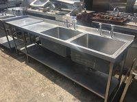 2.6m Double Sink Unit with Table Section