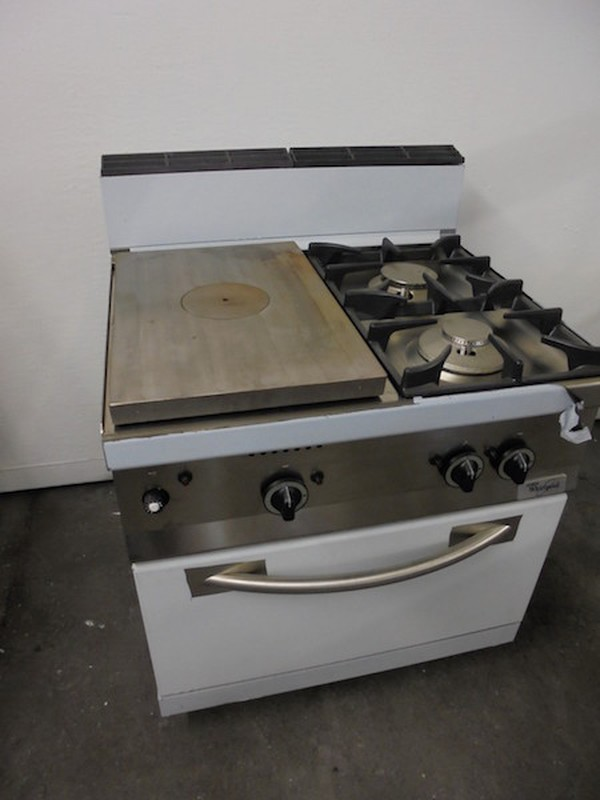New Whirlpool AGB489 2 Burner and Solid Top Oven (5006)
