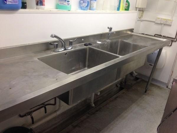 Vogue Double Sink Unit