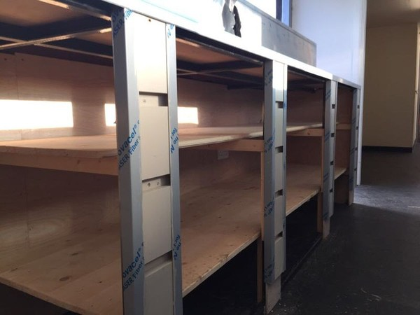 40ft Shipping Container Bar Shelves