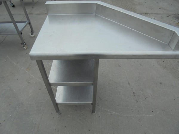 Stainless Steel Corner Table