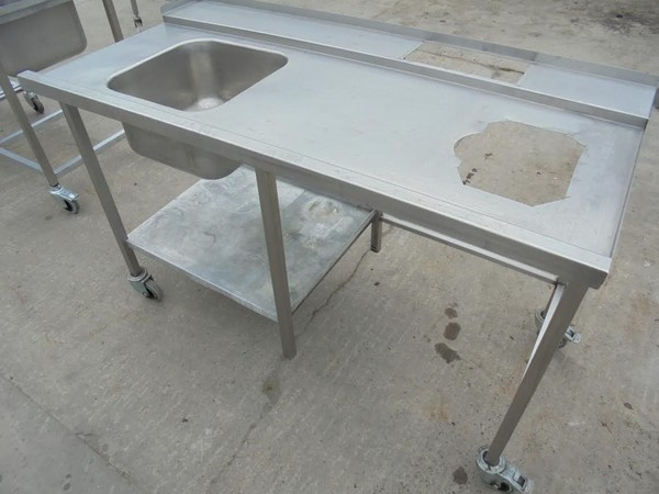 Stainless Steel Single Bowl Dishwasher Sink
