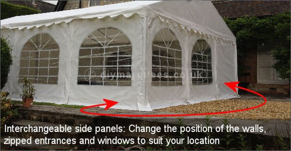 6m x 6m Deluxe Marquee