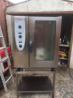 2010 Rational Cm101 10 Grid Combi Oven Steamer Steam Cooker Serviced Tested Vgc
