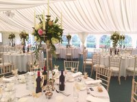 Clear-span wedding marquee