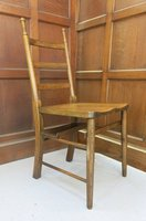 Bournemouth Antique Oak Church Chapel Pew Chair