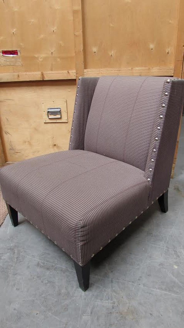 Pale Purple Armless Chair