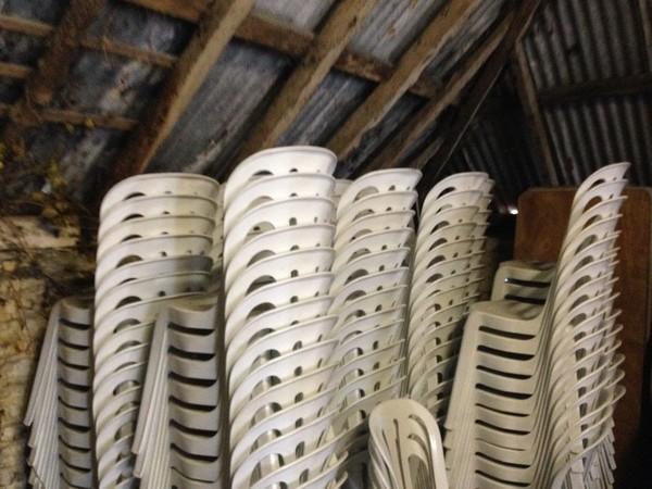 215 White Bitro Chairs
