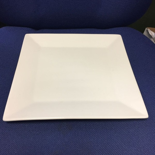 White China Collection Plate