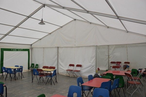 Roder HTS 9m x 15m Clearspan Marquee With Steel Sub Base Floor and Doors