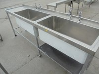 Very big double catering sink