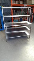Stainless table   With gantry top   150w by 60 d by 170h