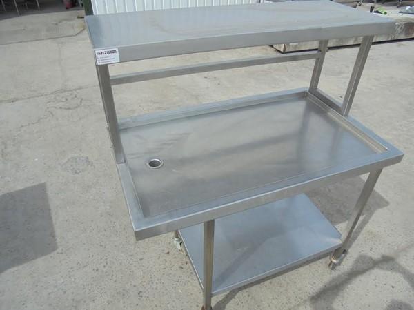 Stainless Steel Wet Table & Gantry Shelf