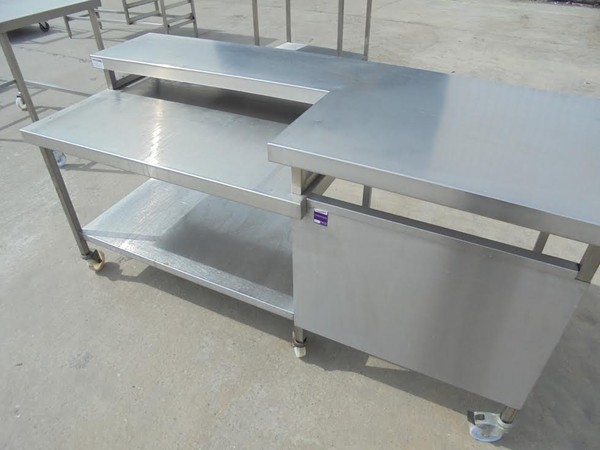 Stainless Steel 2 Tier Table