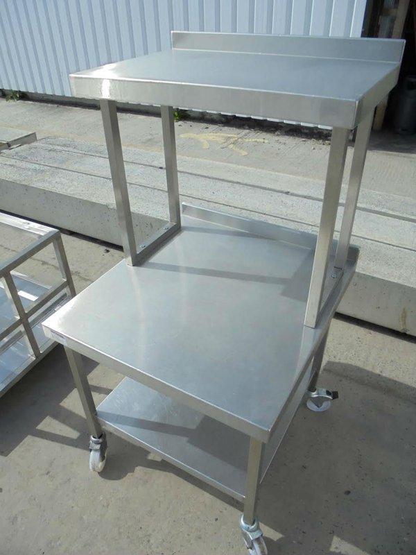 Prep table with Gantry shelf