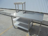 Stainless steel mobile table