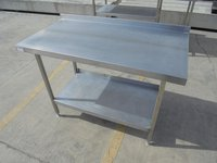Secondhand stainless steel table
