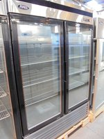 New Atosa Glass Fronted Double Door Freezer