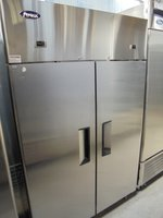 New Atosa Stainless Steel Double Door Fridge Freezer (5148)