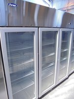 New Atosa Stainless Steel Glass Fronted Triple Fridge (5150)