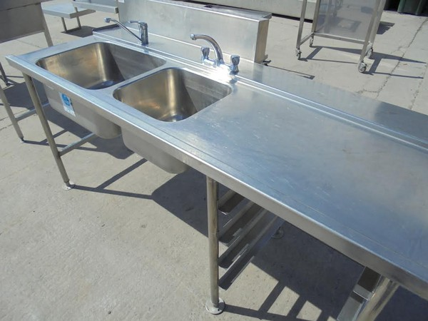 Stainless Steel Double Dishwasher Sink