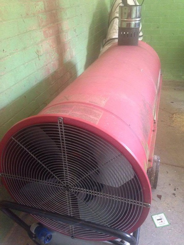 second hand diesel marquee heater