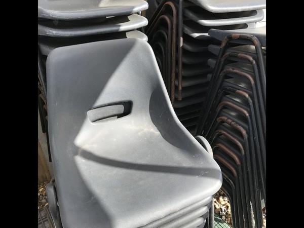 64 Black Polypropylene Chairs