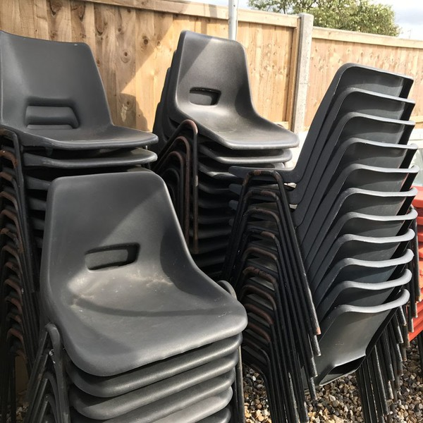 64 Plastic Stacking Chairs