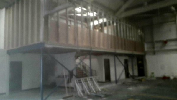 Complete Mezzanine Floor And Stairs