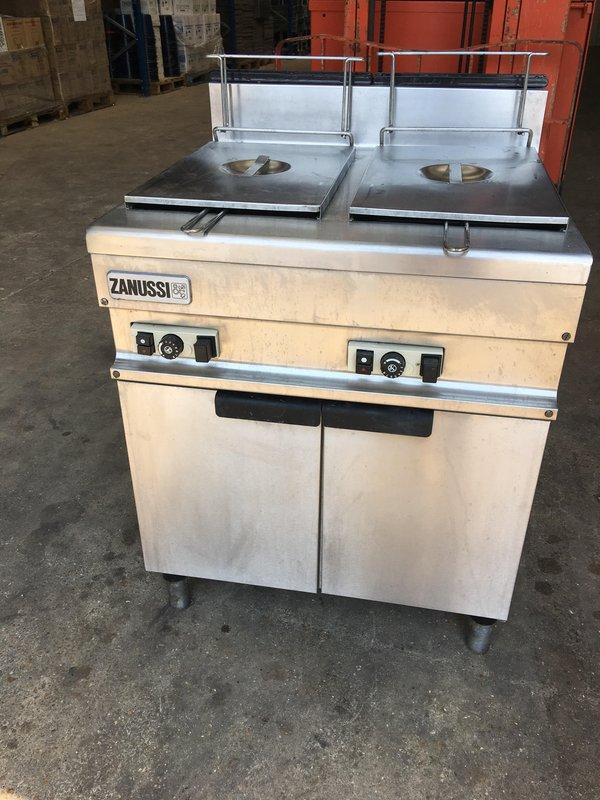 Zanussi Gas Twin/Double Well Basket Fryer