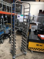 Stainless Steel 15 Tier Clear Away Trolly Tray Rack