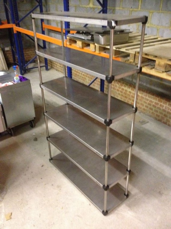 Stainless Steel Catering 6 Shelf Unit - Walthamstow, London 2