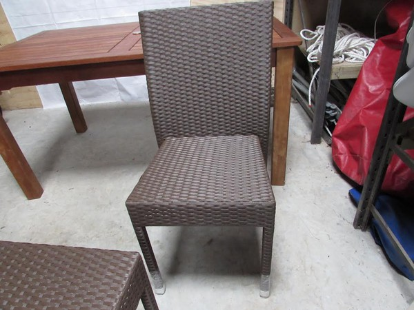 ommercial Lovely Warm Brown Outdoor Rattan Dining Chairs