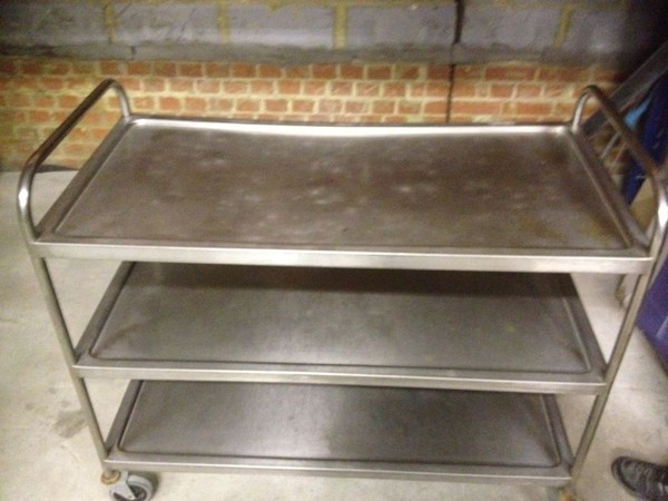 Stainless Steel Clearing Trolley - Walthamstow, London 2