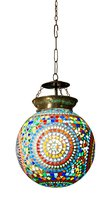 Hand Made Mosaic Glass Hanging Lamp